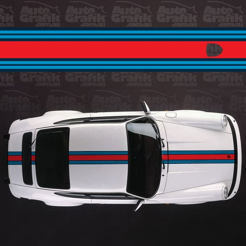 Image of MARTINI RACING NARROW OVER STRIPE DECAL KIT