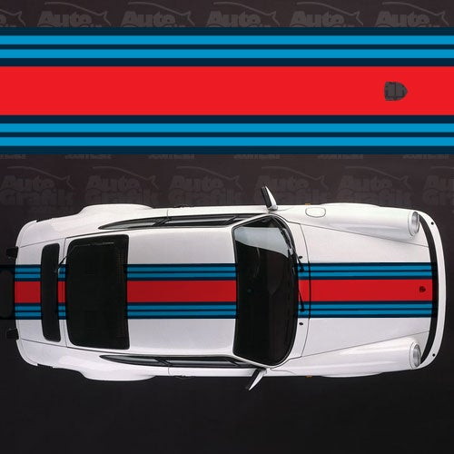 Image of MARTINI RACING WIDE OVER STRIPE DECAL KIT