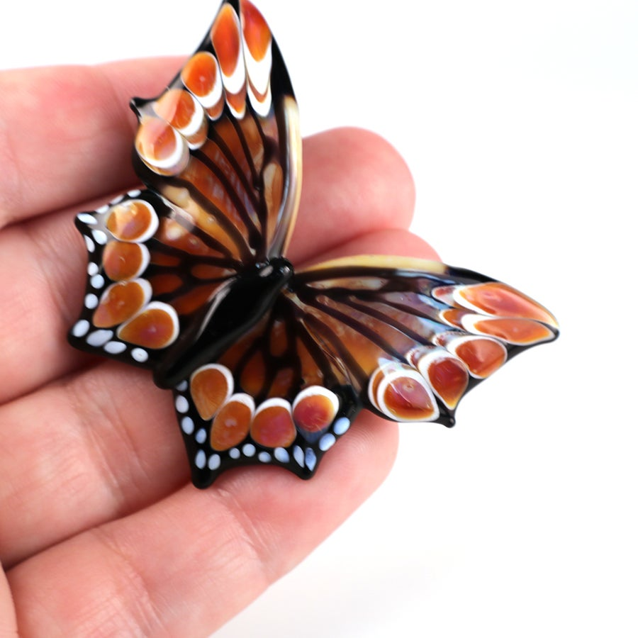 Borosilicate Butterfly in Warm Ambers