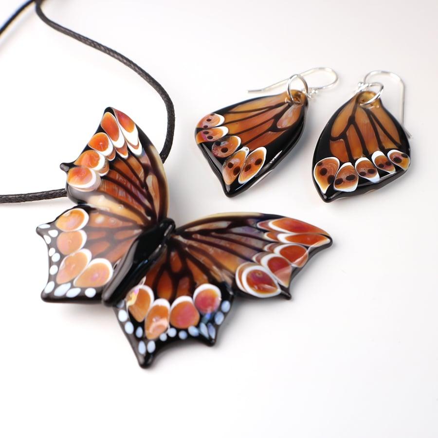 Butterfly Wing Earrings in Warm Ambers
