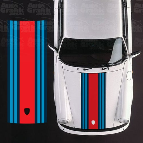 Image of MARTINI RACING WIDE HOOD STRIPE DECAL