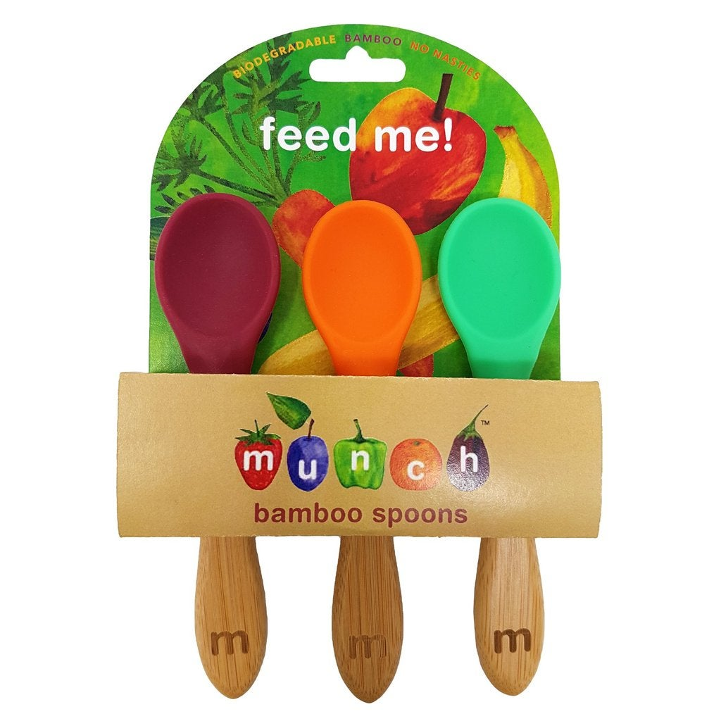 Munch Bamboo Baby Spoons - 3 pack