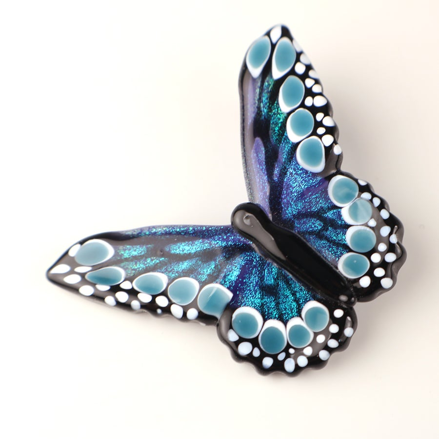 Iridescent Blue Dichroic Butterfly