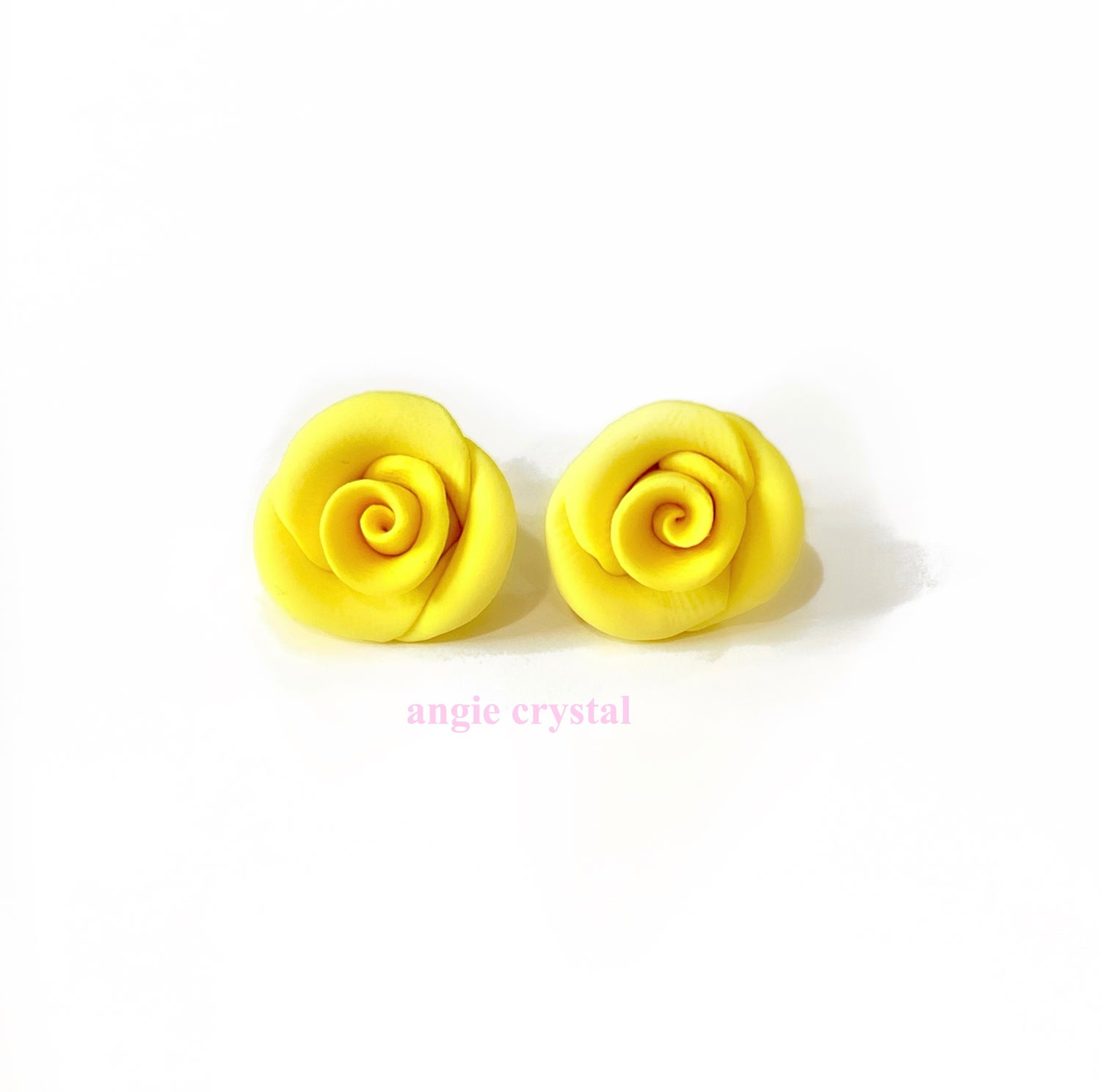 Image of Yellow Rose Stud Earrings