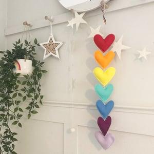 Image of Bright Rainbow Heart Garland
