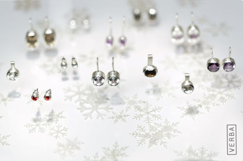 """Image of """"Happy those who possess"""" silver earrings with amethysts  · BEATI POSSIDENTES ·"""
