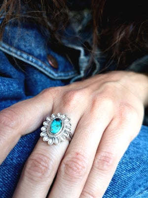 Image of Bague Azurite - taille 52 -