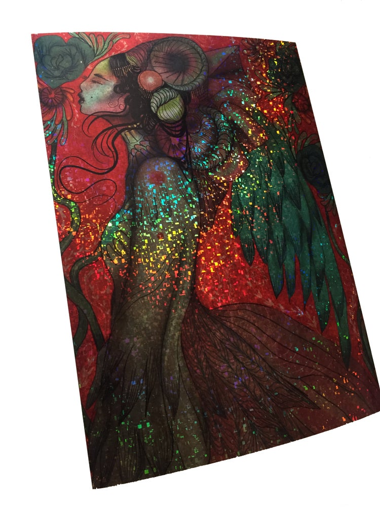 Image of Holographic A4 angel print