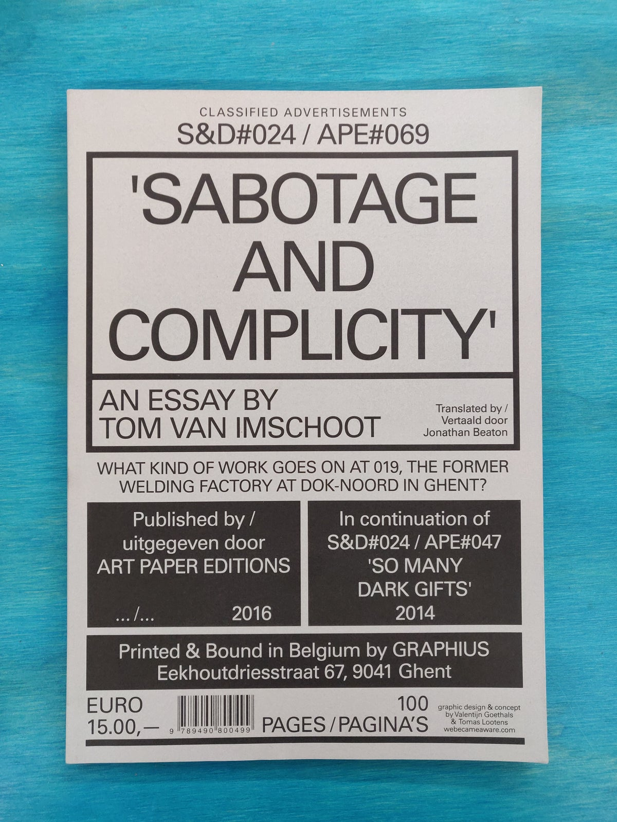 Sabotage And Complicity (S&D#024 / APE#069)