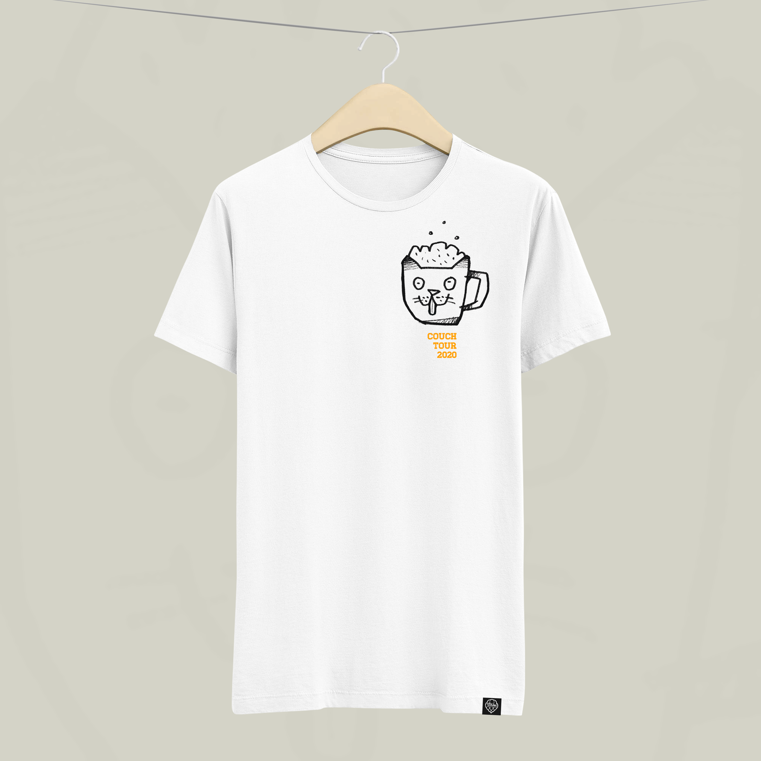 Image of Couch Tour Supporter Shirt Weiss (Pre-Order)