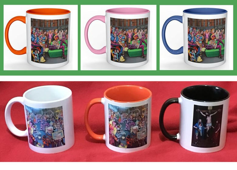 Image of Cups: Colour Walk (2 versions)and Crucifixion