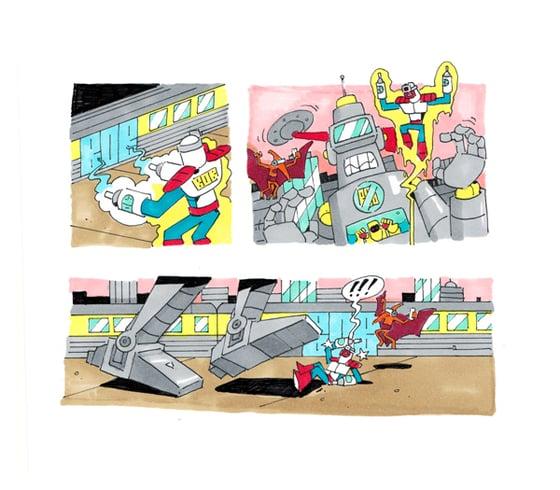 Image of Supervandal robot