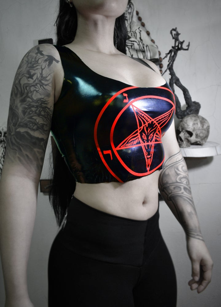 Pentagram pvc cropped - FREE SHIPPING
