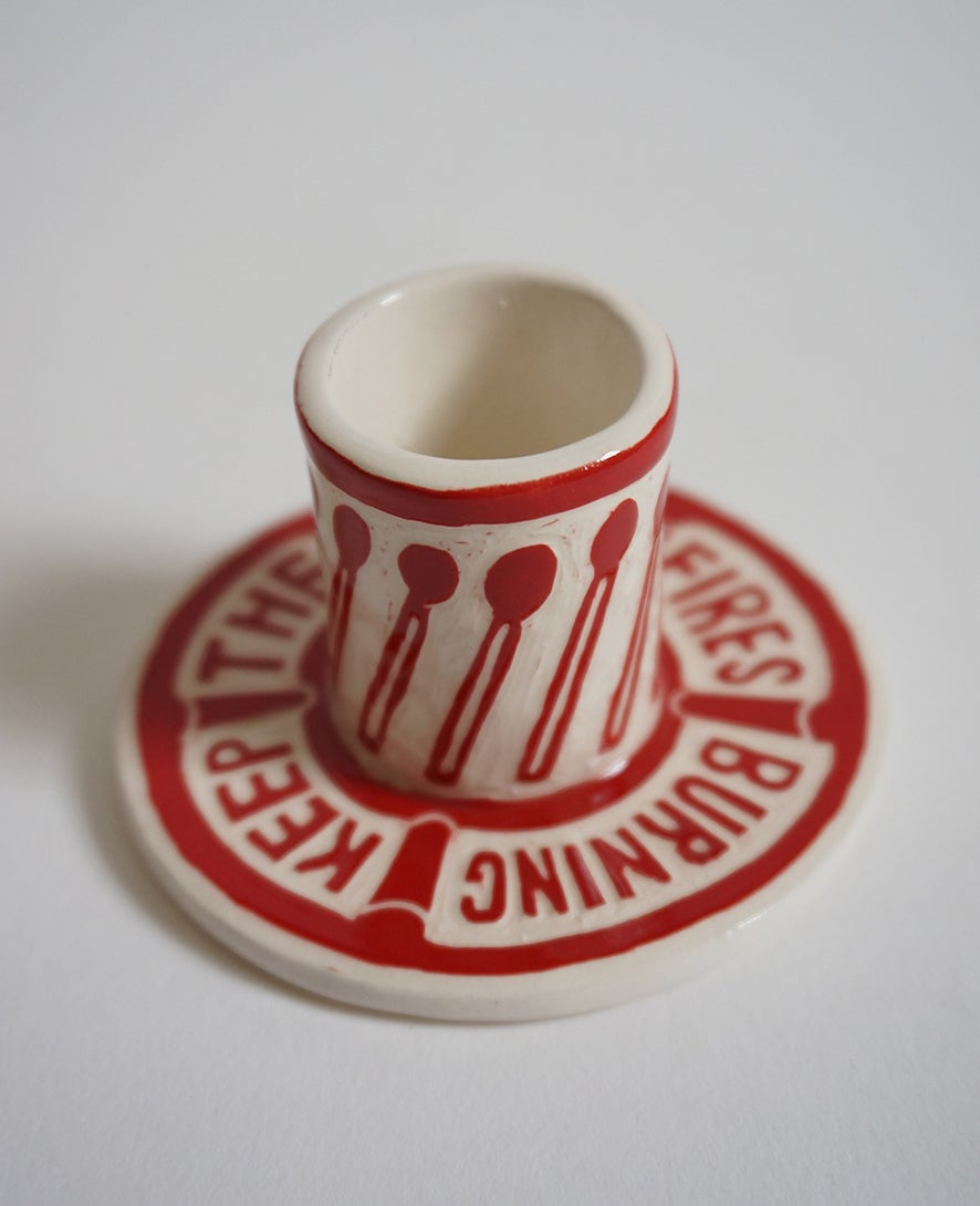 Image of Keep the Home Fires Burning - Candle Holder