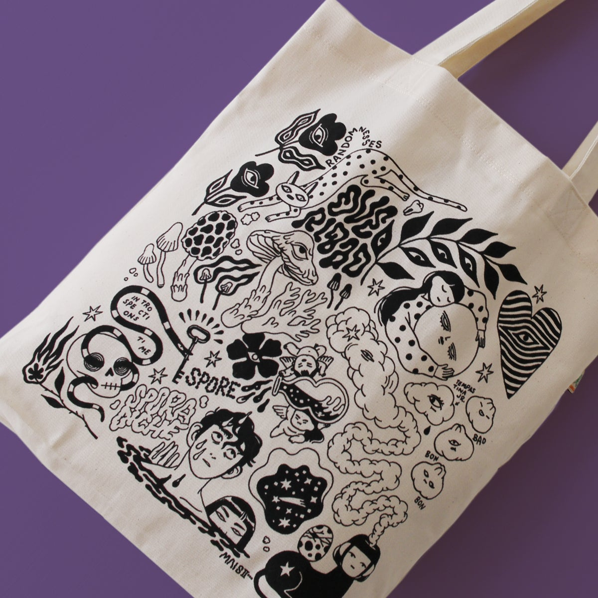 Image of BRAIN CLUTTER - 100% recycled tote bag