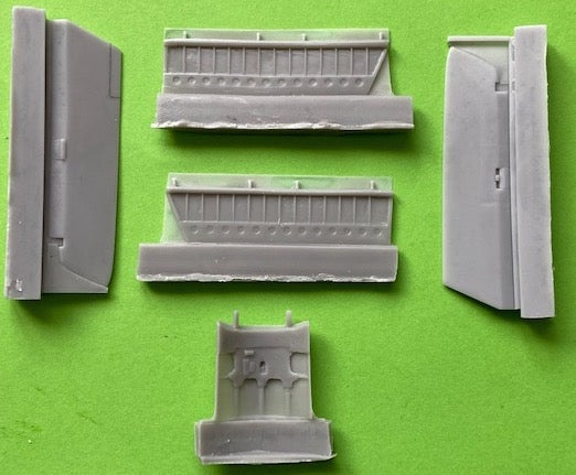 Image of Hawker Hunter Ailerons, Flaps and Air Brake set for Airfix Mk.6