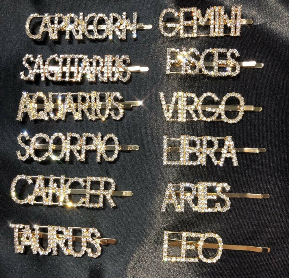 Image of Zodiac Sign Hair Pins
