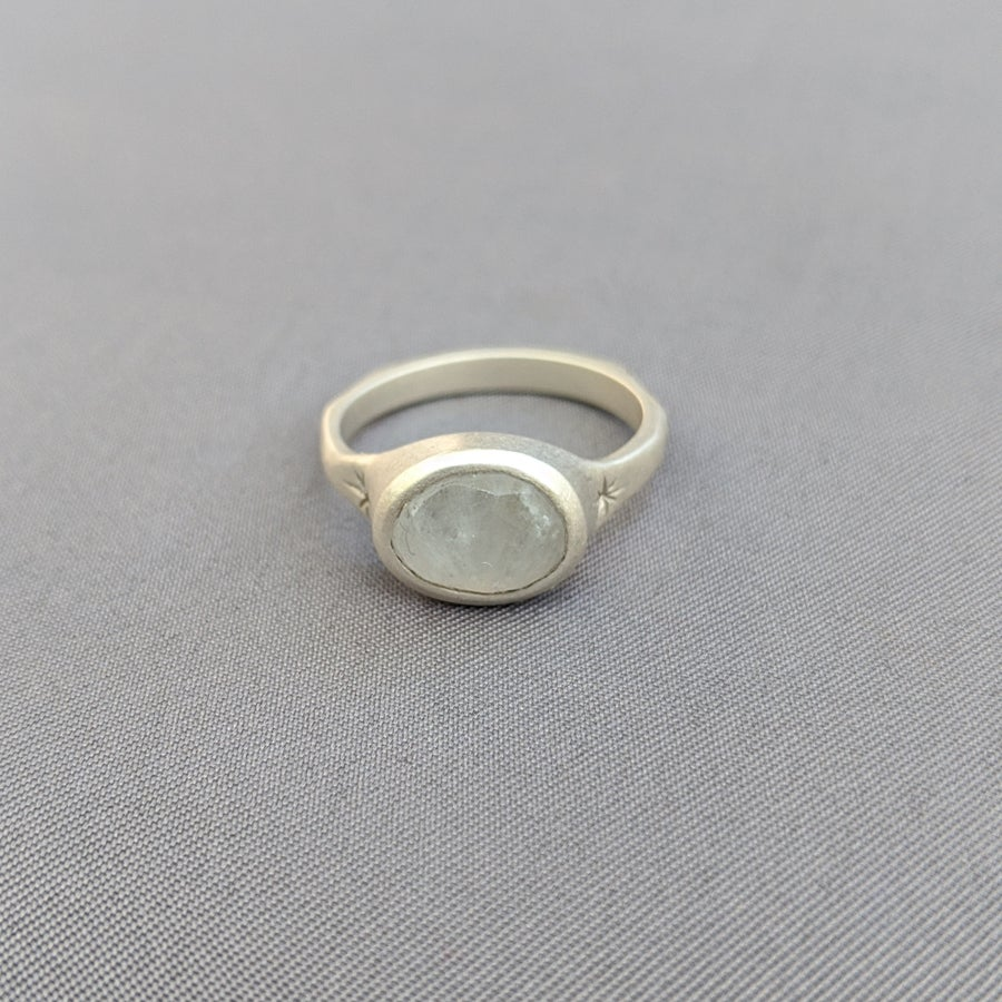 Image of Rainbow moonstone ring #5