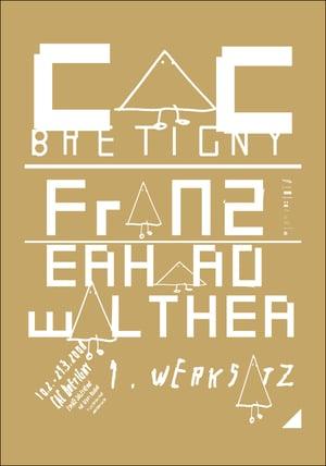 """FRANZ ERHARD WALTHER/VIER5, <br>""""ERSTER WERKSATZ"""""""