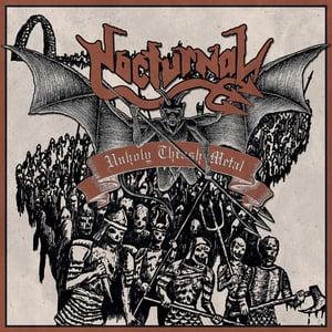 Image of  Nocturnal / Nuctemeron  – Unholy Thrash Metal / Eternal Proscription SPLIT 7'' EP