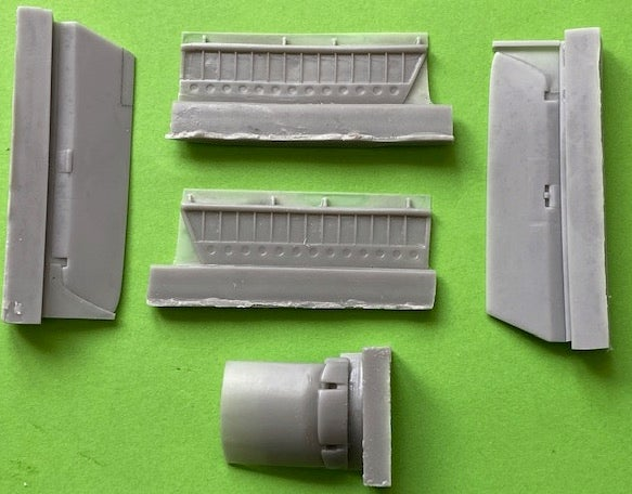 Image of Hawker Hunter Ailerons, Flaps and Air brake set for Airfix F.4 and F.5