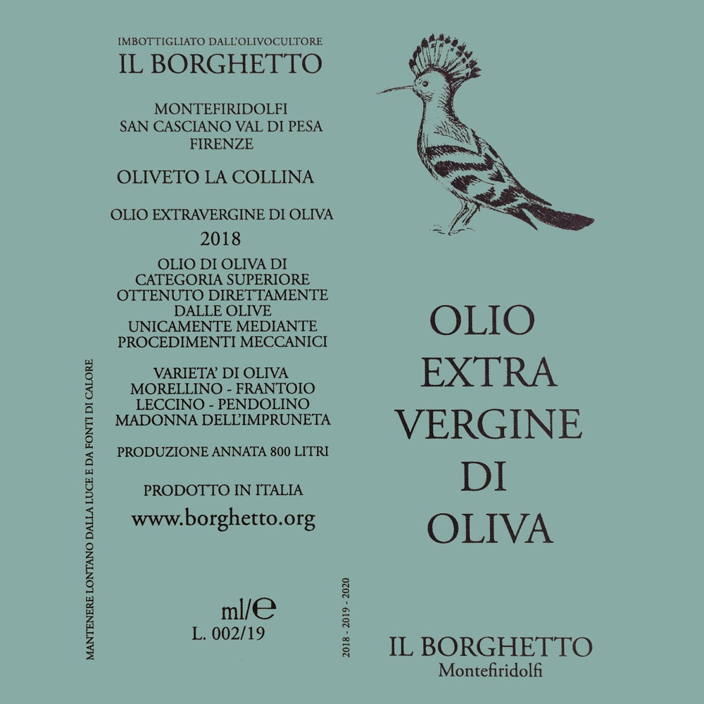 Image of OLIO EXTRA VERGINE D'OLIVA / EXTRA VIRGIN OLIVE OIL  [2018] 500ml.