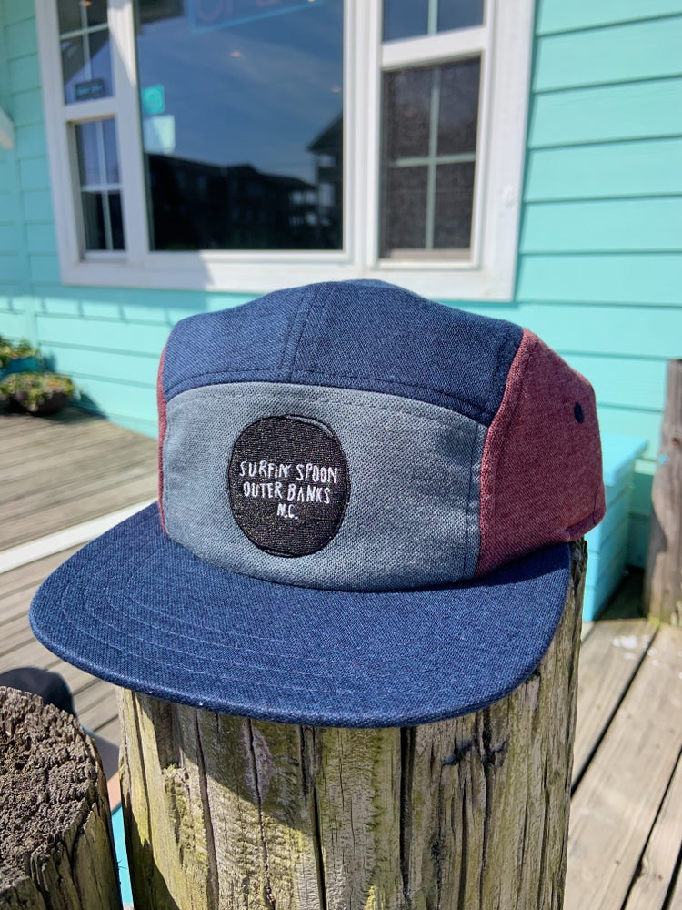 Image of 5 Panel - Heathered Blue & Maroon