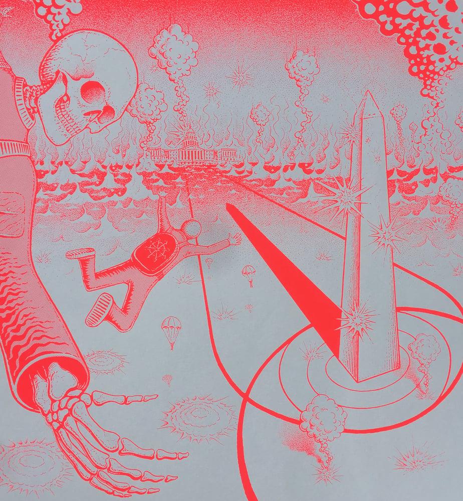Image of Fugazi Reunion Poster (neon red/black)