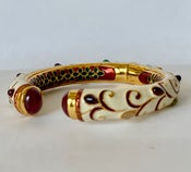 Image of Gemstone and enamel bangle