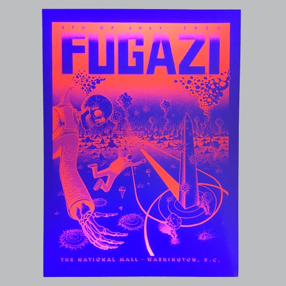 Image of Fugazi Reunion Poster (neon red/black)