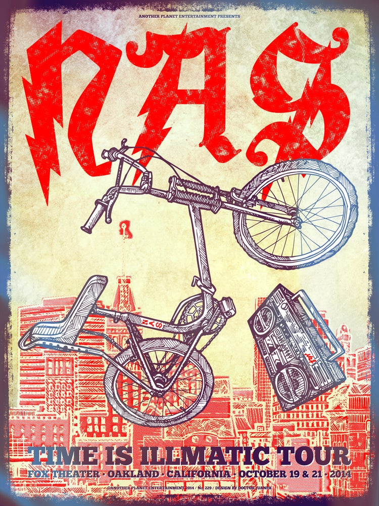 Image of NAS Time is Illmatic Tour 2014 Poster (Regular)