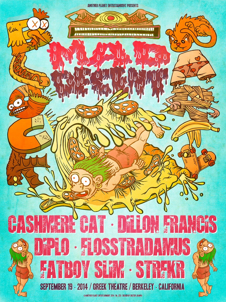 Image of Mad Decent Block Party 2014 Poster (Regular)