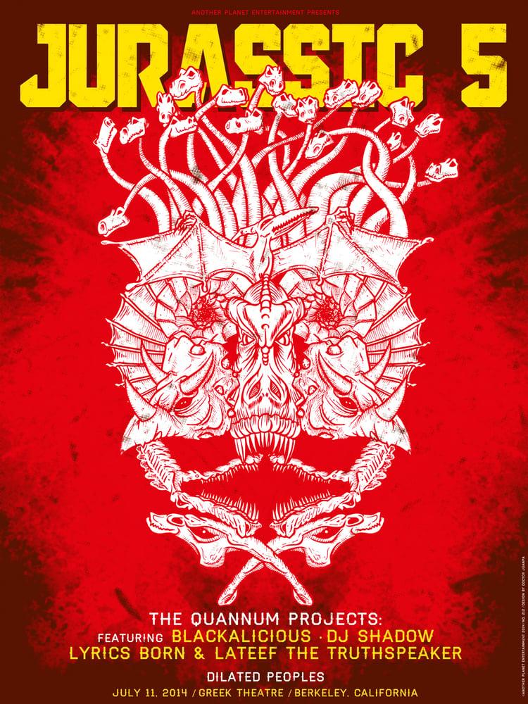 Image of Jurassic 5 2014 Poster (Regular)