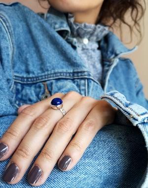 Image of Bague Lapis Lazuli - taille 55,5 - ref. #4757