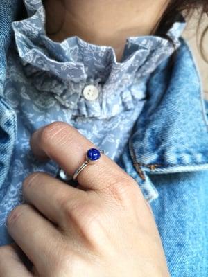 Image of Bague Lapis Lazuli - taille 55,5 - Ref. #5748