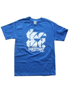 Image of tketht! Royal Blue logo t-shirt