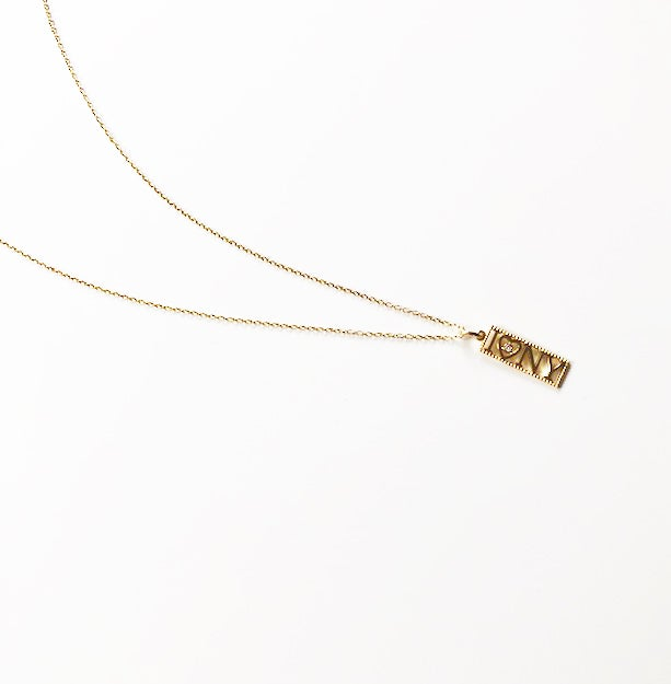 Image of I LOVE NY NECKLACE