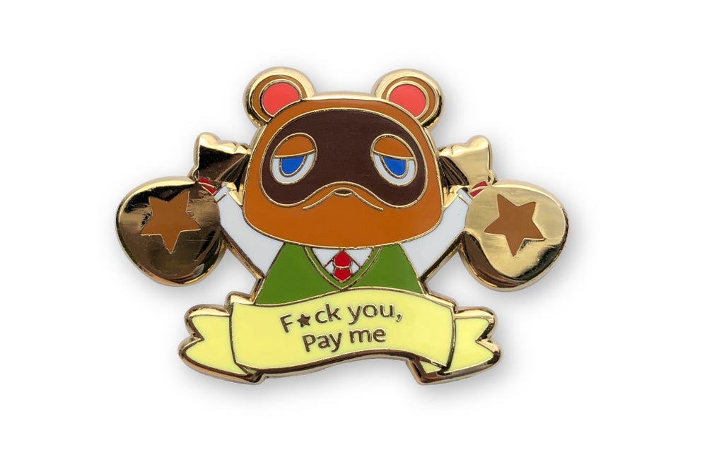 Image of Pay me enamel pin