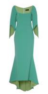 Sage Green Split Sleeve Detail Dress