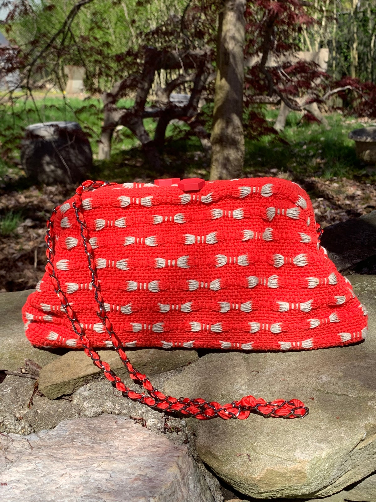 Image of Dado Red Knit Bag