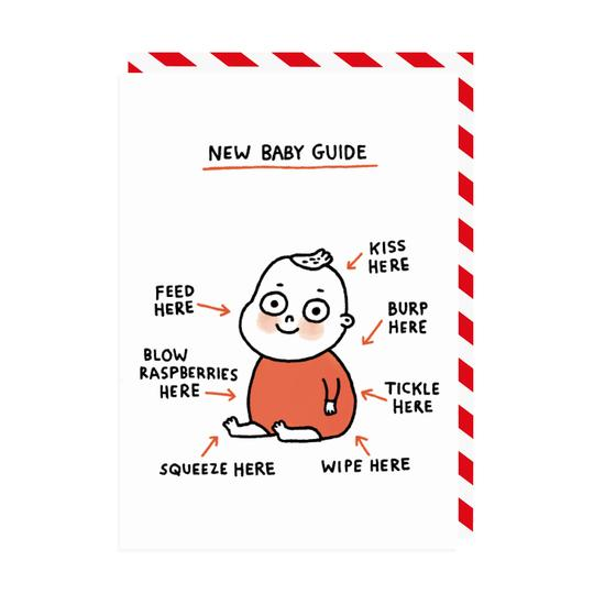 Image of New Baby Guide Greeting Card