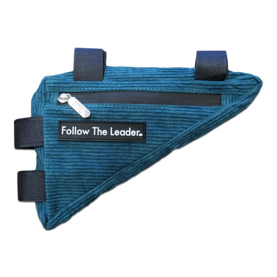 Image of FTL Bicycle Frame Bag (Teal Corduroy)