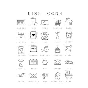 Image of Transparent Line Icons