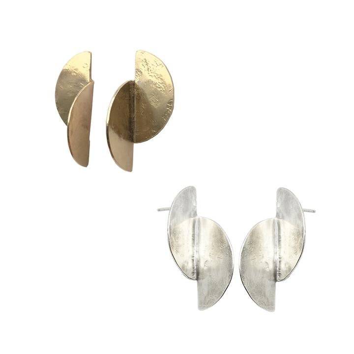 Image of Knuckle Kiss Split Cell Earrings