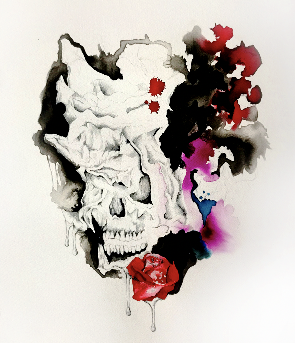 Image of Skull Pain - SOLD