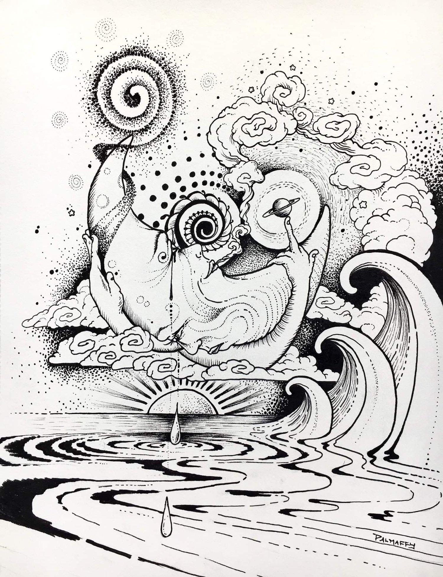 Image of Tides Turning Original Drawing