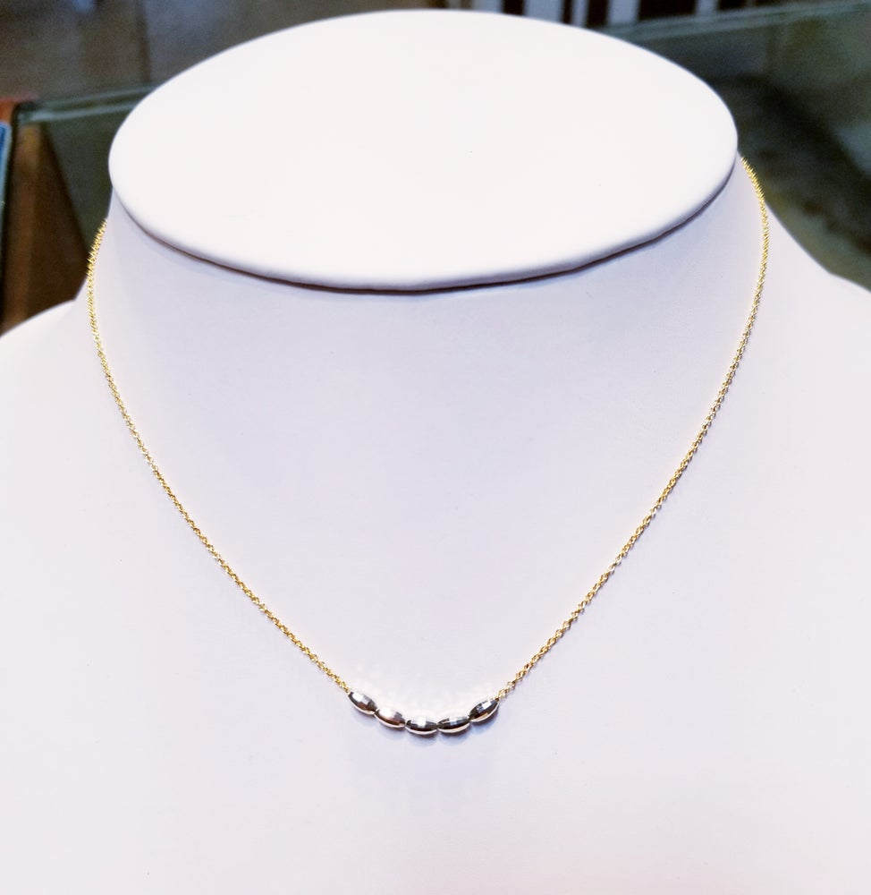 Image of Mixed Metal Slide Necklace