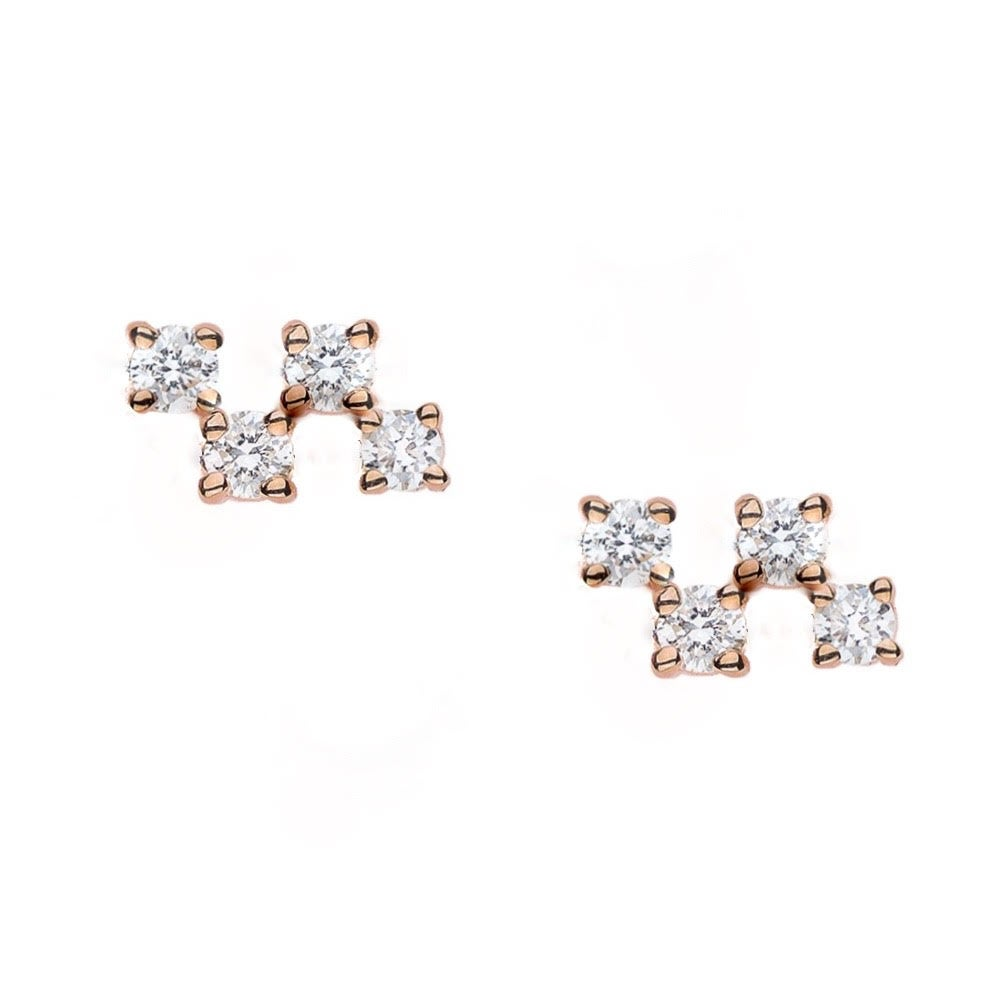 Image of Balance Diamond Earrings
