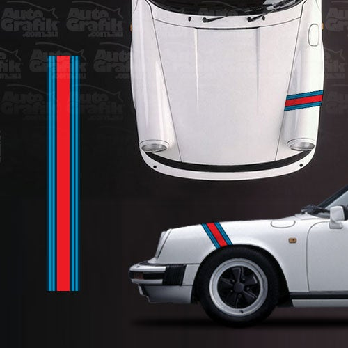 Image of MARTINI RACING FRONT GUARD STRIPE DECAL