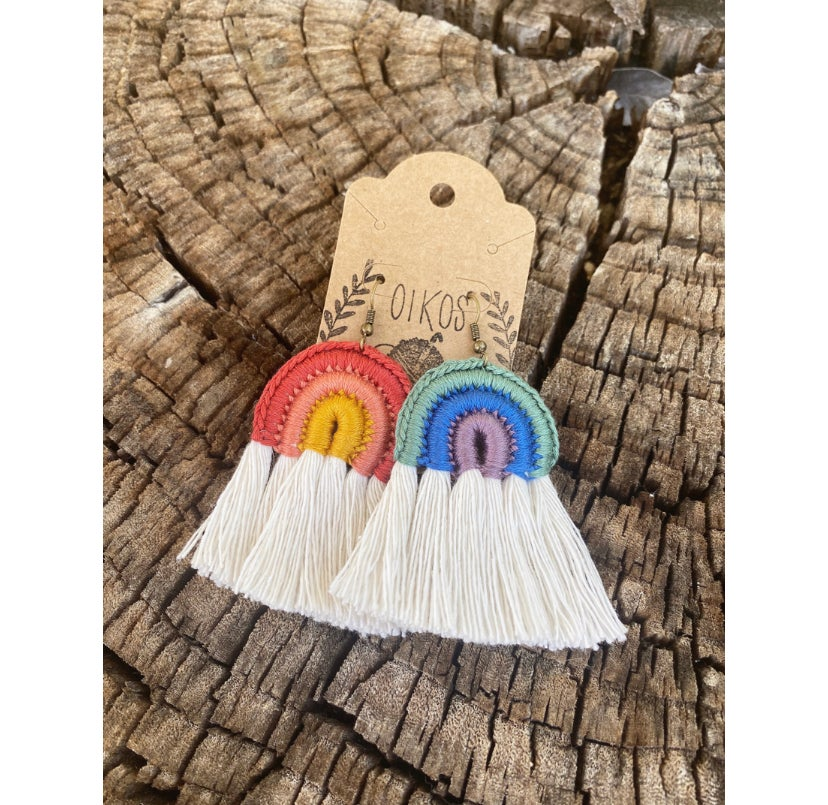 Image of Full Boho Rainbow Earrings